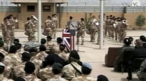 Předávací ceremoniál v Basře