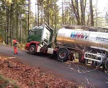 Nehoda cisterny