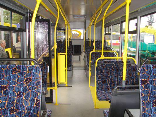 Interiér autobusu TEDOM