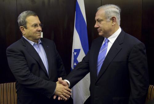 Ehud Barak a Benjamin Netanjahu
