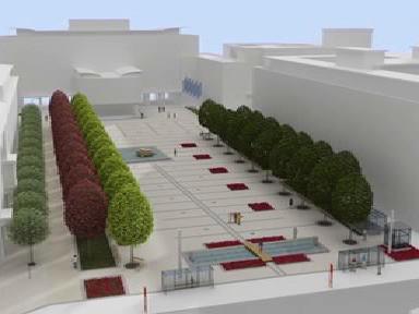 Projekt ústeckého náměstí s garážemi
