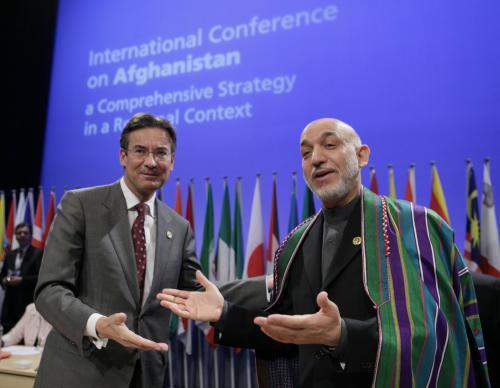 Maxime Verhagen a Hamíd Karzáí
