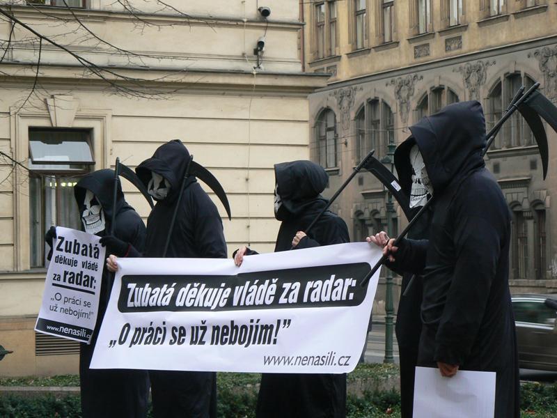 Demonstrace proti radaru