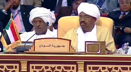 Umar Hasan Ahmad Bašír (vpravo)