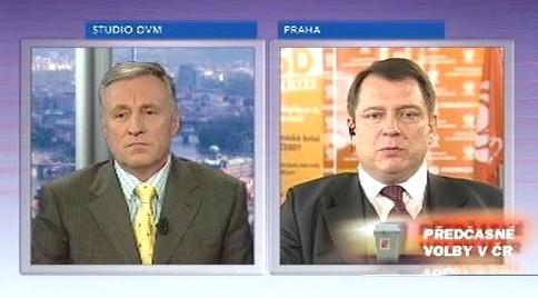 Mirek Topolánek a Jiří Paroubek