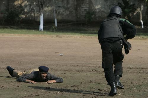 Pákistánská policie v akci