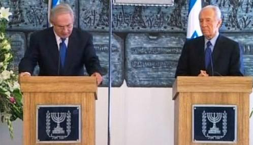 Benjamin Netanjahu a Šimon Peres