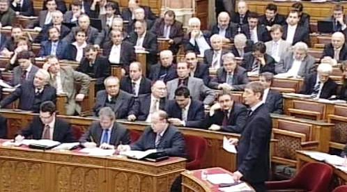 Ferenc Gyurcsány v parlamentu