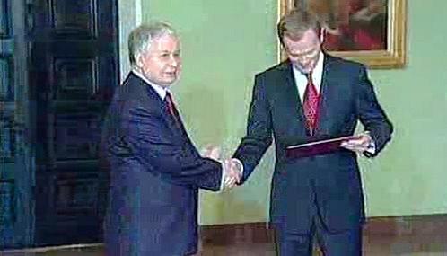 Lech Kaczyński a Donald Tusk