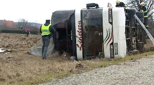 Nehoda autobusu u Nupak