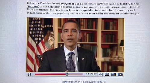 Barack Obama na internetu