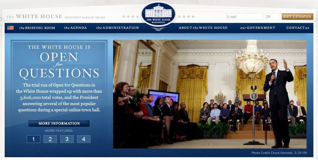 Webové stránky Bílého domu