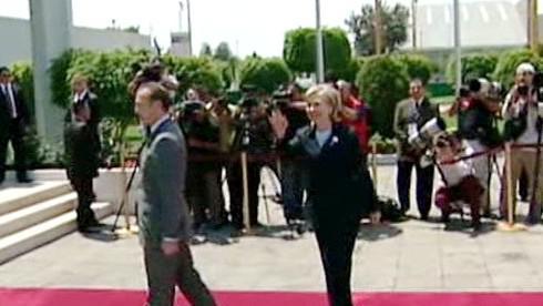 Hillary Clintonová v Mexiku