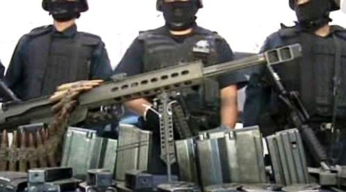 Zabavené pašované zbraně