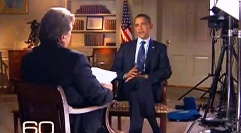 Barack Obama při rozhovoru