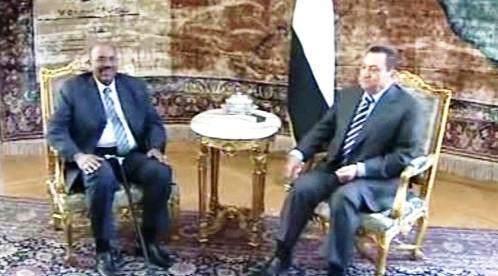 Umar Hasan Ahmad Bašír a Husní Mubarak