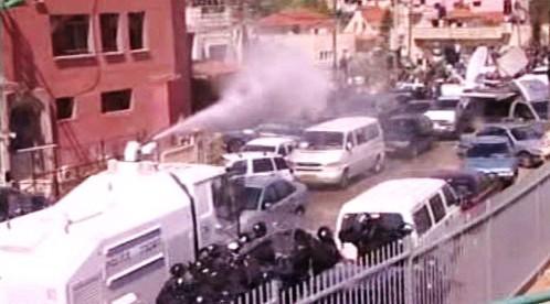 Střet policie s izraelskými Araby