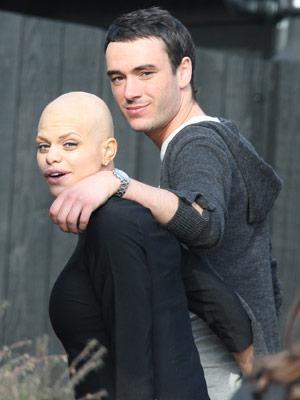 Jade Goodyová s manželem Jackem Tweedem