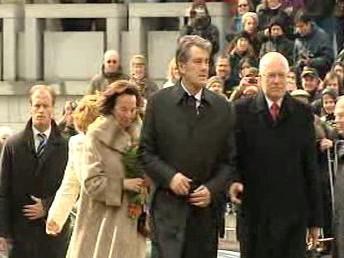 Viktor Juščenko a Václav Klaus