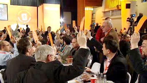 Delegáti na sjezdu ČSSD