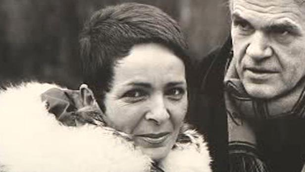 Milan Kundera s manželkou