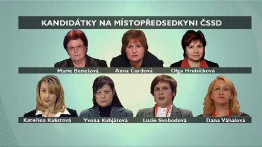 Kandidátky na místopředsedkyni ČSSD
