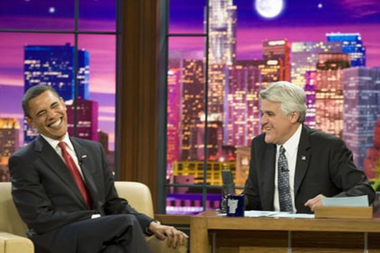 Barack Obama a Jay Leno
