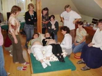 Cvičení v Porodním domě U čápa