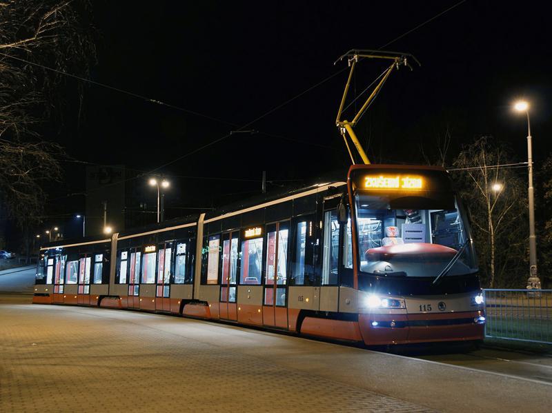 Test nové tramvaje