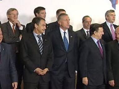 Mirek Topolánek na summitu EU