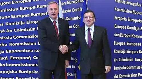 Mirek Topolánek a José Barroso