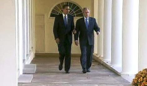 Barack Obama a George Bush