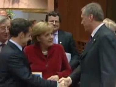 Nicolas Sarkozy, Angela Merkelová a Mirek Topolánek