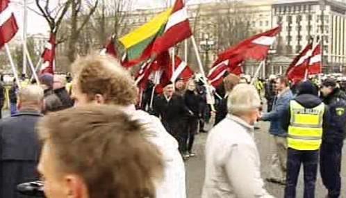 Pochod veteránů Waffen SS v Rize