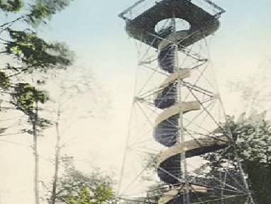 Původní rozhledna na vrchu Studenec