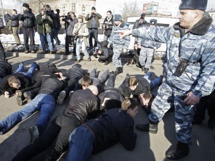 Zatčení členové Mladé Gardy v Moskvě