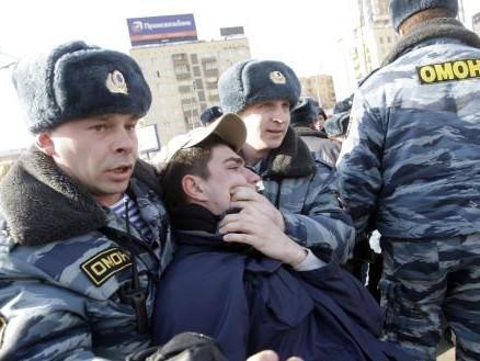 Zatýkání člena Mladé Gardy v Moskvě