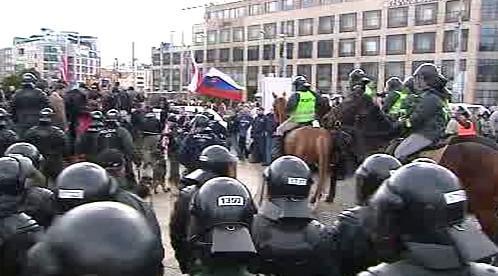 Policie rozhání pochod nacionalistů