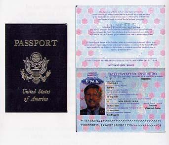 Cestovní doklad USA