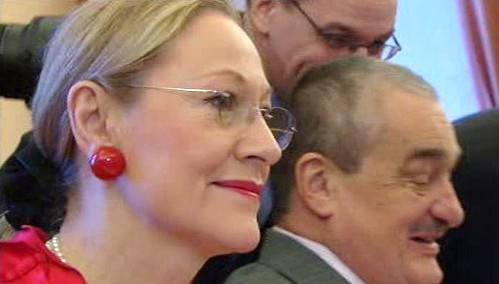 Benita Ferrerová-Waldnerová a Karel Schwarzenberg