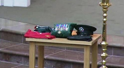 Pohřeb irského policisty