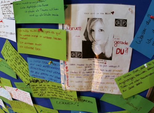 Vzkazy v kostele ve Winnendenu