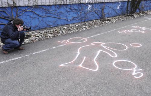 Místo, kde se zastřelil vrah z Winnendenu