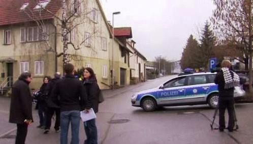 Německá policie v Ilsfeldu