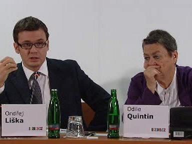 Ondřej Liška a Odile Quintiniová
