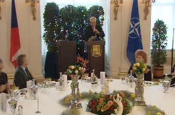 Projev Václava Klause na Hradě