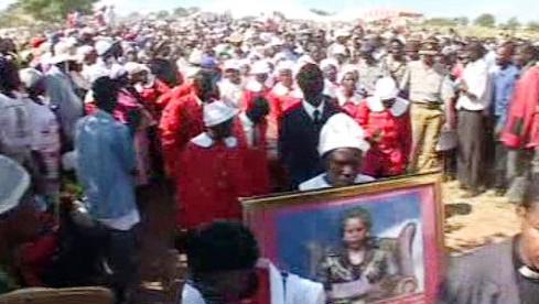 Pohřeb Susan Tsvangiraiové