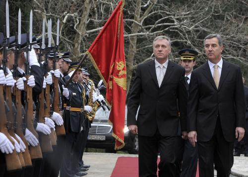 Mirek topolánek na návštěvě Černé Hory