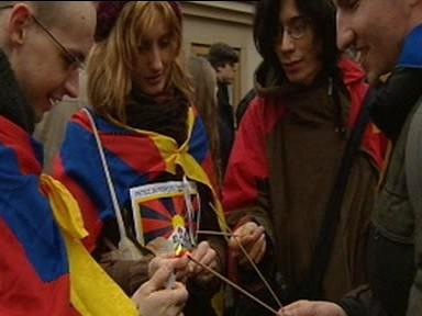 Demonstrace na podporu Tibetu