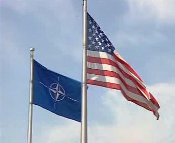Vlajka NATO a USA